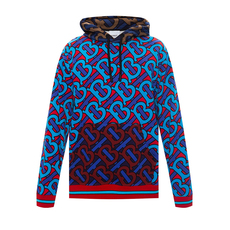 Burberry Monogram Print Hoodie Bright Cherry Red