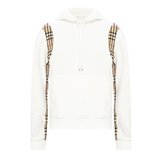 Burberry Vintage Check Panel Hoodie White