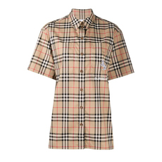 Burberry Zebra Appliqué Vintage Check Shirt Archive Beige