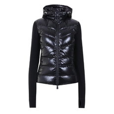 "Moncler Grenoble ""Padded Cardigan"" Down Jacket Black"