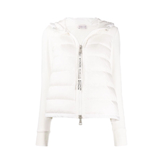 Moncler Fabric Sleeved Padded Down Jacket White