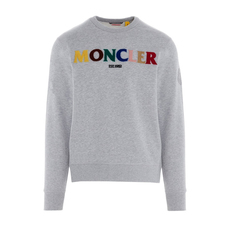 Moncler Genius 2 1952 Rainbow Logo Sweatshirt Grey