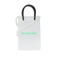 Balenciaga Shopping Phone Crossbody Bag White