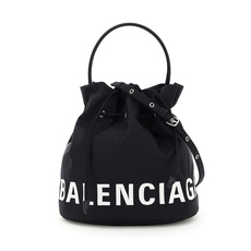 Balenciaga Wheel S Bucket Bag Black