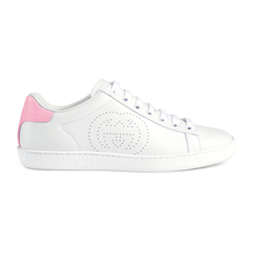 Gucci Interlocking G Ace Women's Sneakers White/Pink