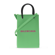 Balenciaga Shopping Phone Crossbody Bag Green