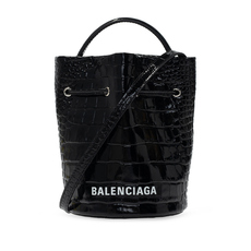 Balenciaga Everyday Xs Drawstring Bucket Bag Black