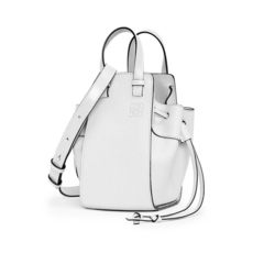 Loewe Small Hammock Drawstring Shoulder Bag Soft White