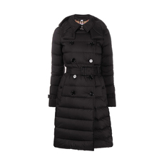 Burberry Double-Breasted Down Coat Black