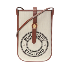 Burberry Logo Graphic Phone Case White/Tan