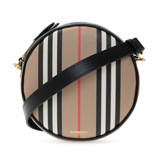 Burberry Icon Stripe E-Canvas Louise Crossbody Bag Archive Beige