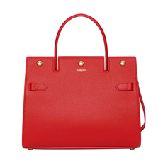 Burberry Small Title Shoulder Bag Bright Red