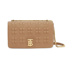Burberry Medium Quilted Shoulder Bag Camel/Light Gold