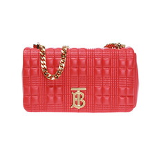 Burberry Small Quilted Shoulder Bag Bright Red