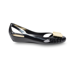 Salvatore Ferragamo Jelly Bermuda Women's Flats Black