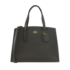Coach Charlie Carryall Shoulder Bag Black/Light Gold