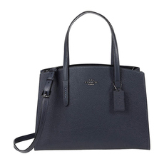 Coach Charlie Carryall Shoulder Bag Midnight Navy/Silver