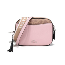 Coach In Signature Camera Bag Pink