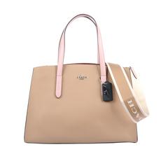 Coach Charlie Carryall Shoulder Bag Beige