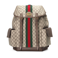 Gucci Ophidia Gg Medium Backpack Beige/Ebony