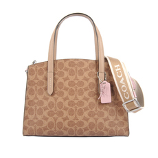 Coach Charlie Carryall 28 Shoulder Bag Brown