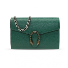 Gucci Dionysus Mini Chain Wallet Emerald Green