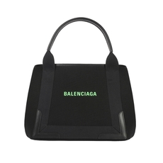 Balenciaga Navy Cabas S Tote Bag Black