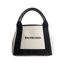 Balenciaga Navy Cabas Xs Shoulder Bag White/Black