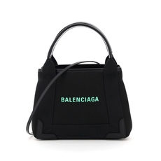 Balenciaga Navy Cabas Xs Shoulder Bag Black