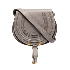 Chloe Mini Marcie Crossbody Bag Cashmere Grey