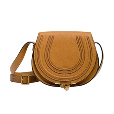 Chloe Mini Marcie Crossbody Bag Autumnal Brown