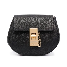 Chloe Mini Drew Cross-Body Backpack Black