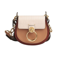 Chloe Small Tess Crossbody Bag Cement Pink