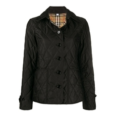 Burberry Diamond Quilted Thermoregulated Jacket Black