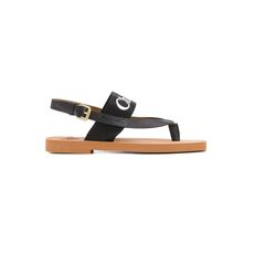 Chloe Woody Flat Women's Sandals Black