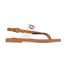 Chloe Woody Flat Women's Sandals White