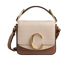 Chloe Mini Chloé C Crossbody Bag Cement Pink