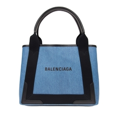 Balenciaga Navy Cabas S Tote Bag Blue/Black