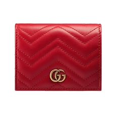 Gucci GG Marmont Bi-Fold Wallet Hibiscus Red