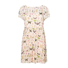 Red Valentino Butterfly Print Dress Multicolor