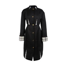 Loewe Fitted Cotton With Contrasting Inserts Coat Black