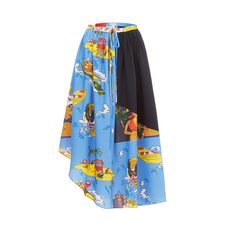 Loewe Holiday Prints Collection Skirt Blue