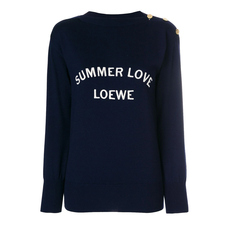 Loewe Summer Love Knitted Sweater Blue