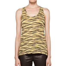 Proenza Schouler Racerback Tank In Yellow Tiger Sleeveless Top Yellow