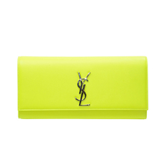Saint Laurent Clutch Bag Neon Green