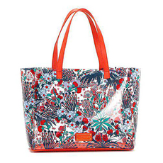 Marc Jacobs Pure Cream Multi Transparent Flowery Tote Bag
