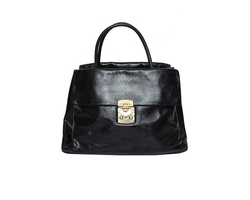 Miu Miu Vitello Shine Shoulder Bag Black
