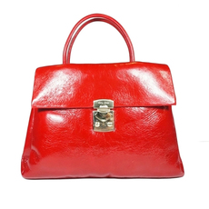 Miu Miu Vitello Shine Shoulder Bag Red