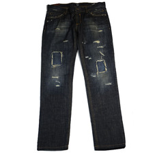 Dsquared2 Distressed Zipper Botton Jeans Blue