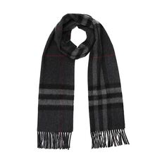Burberry The Classic Check Cashmere Scarf Charcoal